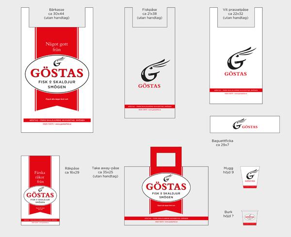 Emballage för Göstas fisk och skaldjur